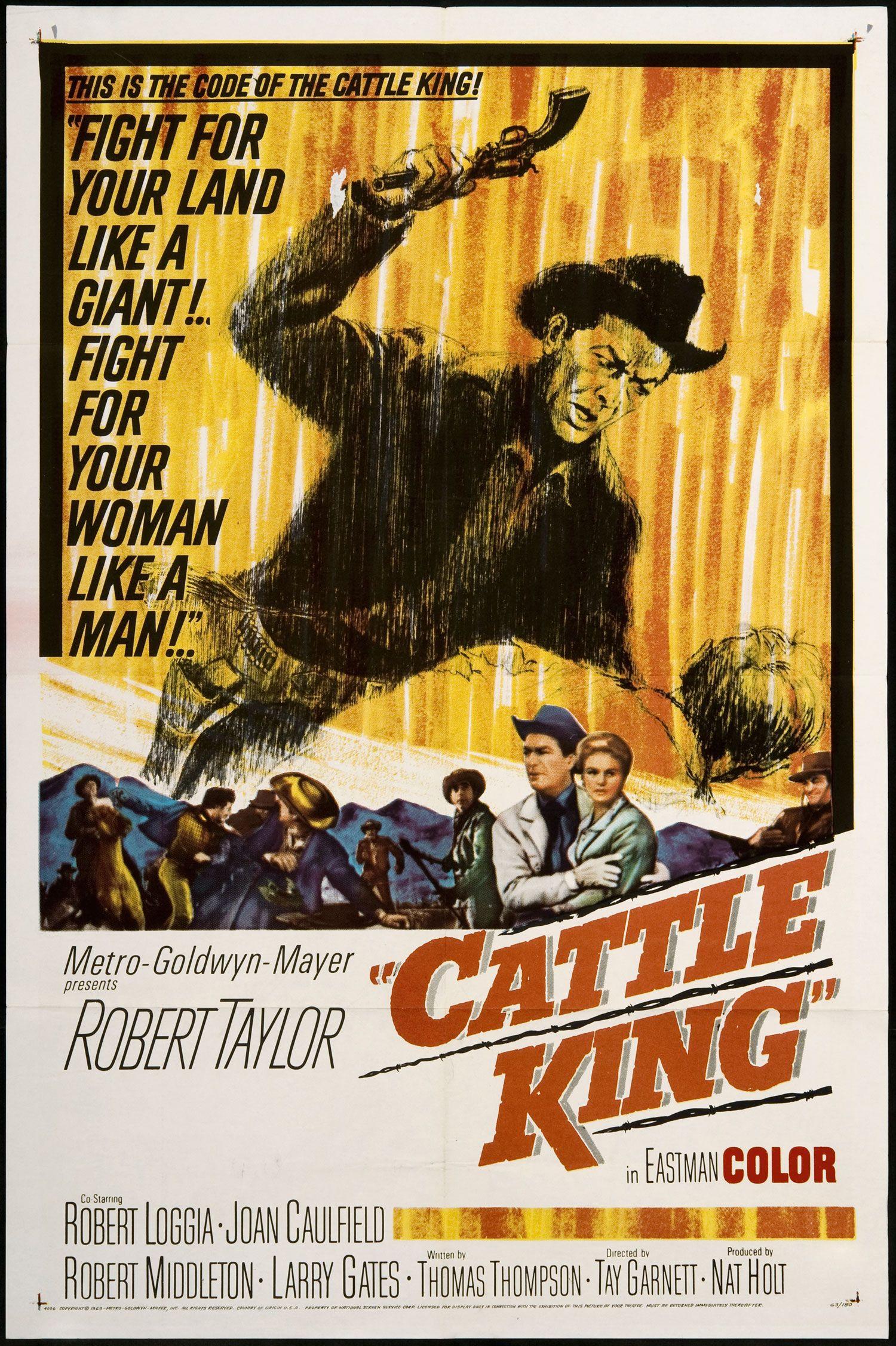 Cattle king 1963 poster prints kings movie film