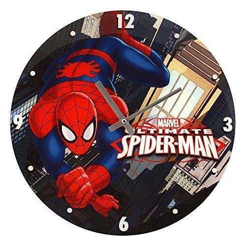 Marvel Comics Ultimate Spiderman Swing Glass Clock