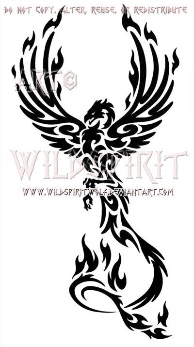 Phoenix Rising Tribal Phoenix Tattoo Phoenix Tattoo Design