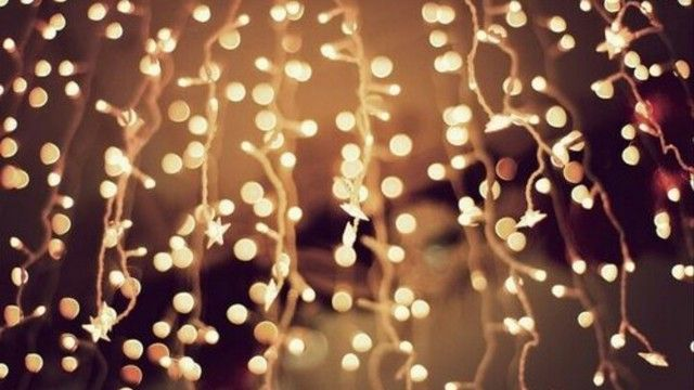 golden aesthetic Tumblr Christmas lights wallpaper