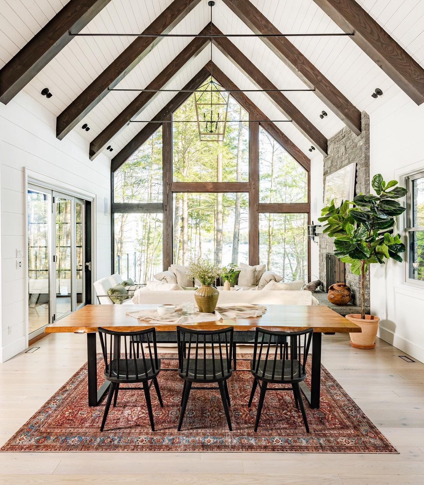 Pin By Lk Design Delray On Dining In 2020 Lake House Dining Room Lake House Dining Budget Home Decorating