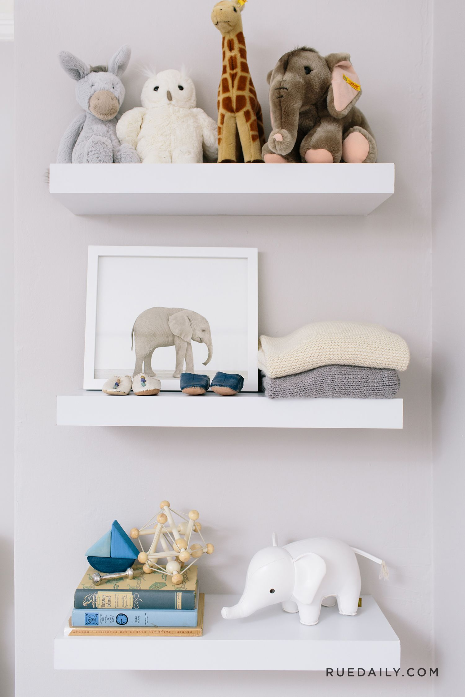 inside a sophisticated san francisco nursery rue nursery rh pinterest com baby girl nursery shelves baby bedroom shelves