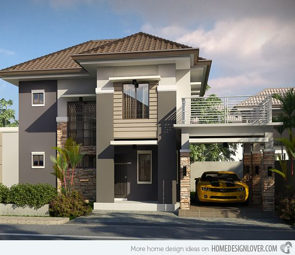 Striking Collection Of 15 Houses With Terrace Home Design Lover 2 Storey House Design Minimalist House Design Bungalow House Design