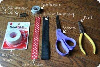 Ribbon Key Chain Tutorial Key Fobs Diy Diy Lanyard Diy Ribbon