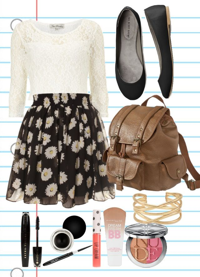Cute girly outfit for back to school | Back To School Fashion | Pinterest | School outfits ...