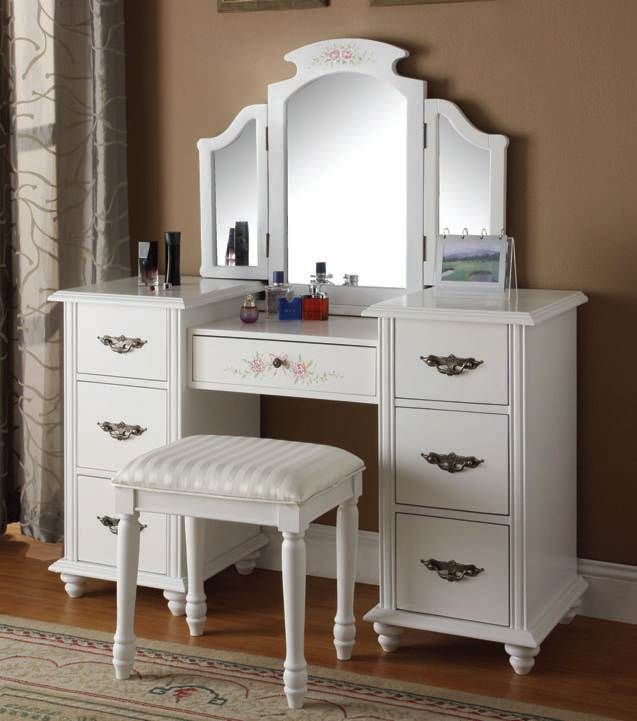 Acme Furniture Torian White Vanity Set with Mirror in 2018