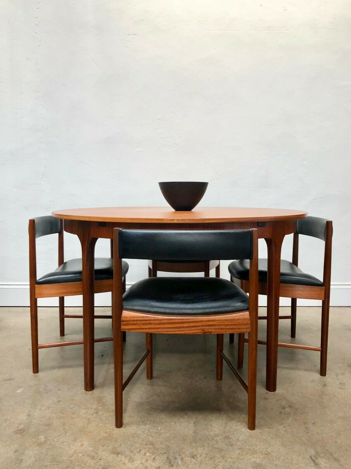 Vintage Mcintosh Dining Table 4 Chairs Danish G Plan Retro Hans