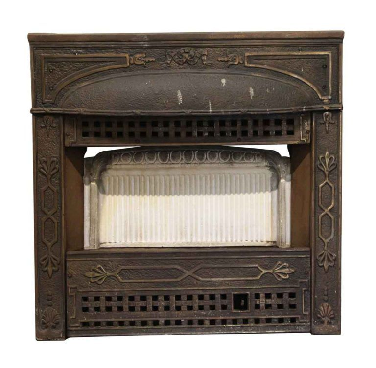 Bronze Plated Fireplace Insert With Heater Coils Fireplace Inserts Cast Iron Fireplace Insert Vintage Fireplace