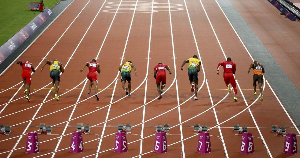 Fotos La Victoria De Bolt En Imagenes Atletismo Pistas De Atletismo Atletismo Velocidad
