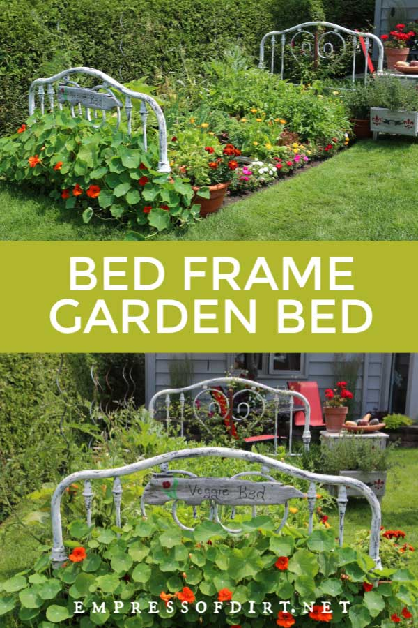 Turn a Real Bed Frame Into a Garden Bed  Empress of Dirt Turn a Real Bed Frame Into a Garden Bed  Empress of Dirt
