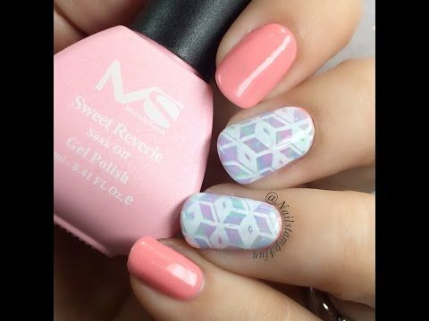 Pastel nails with a geometry pattern gel nail art tutorial pastel nails with a geometry pattern gel nail art tutorial youtube prinsesfo Image collections