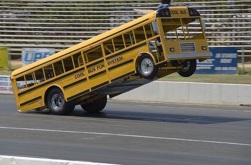 School Bus Wheelstander Wheel Standers Trucks Cars Drag Racing