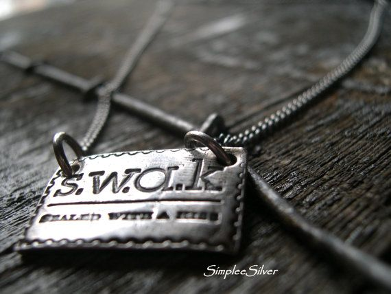 Personalized Jewelry    Sealed With A Kiss by SimpleeSilver, $85.00