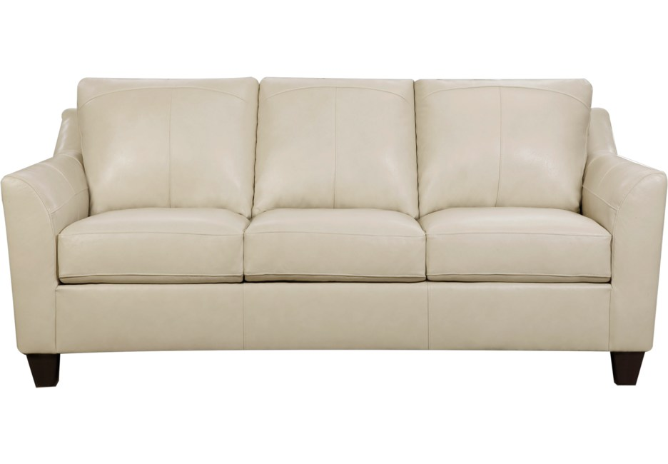 Teramo Cream Leather Sofa in 2019 | Cream leather sofa ...