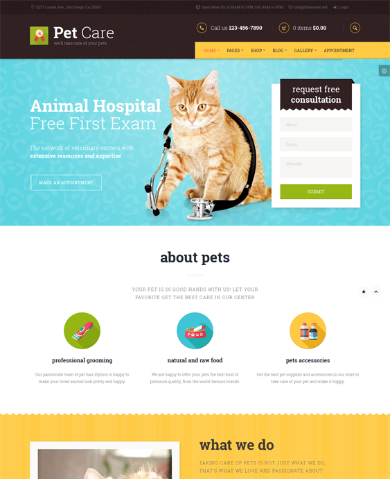 This WordPress theme for pets and vets includes WPML and