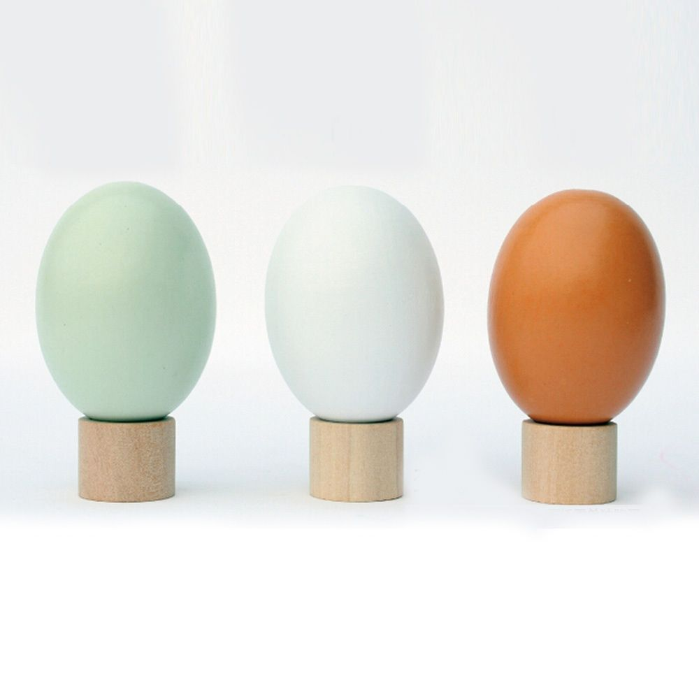 Wooden Simulation Chicken Egg Duck Egg Easter Egg DIY Graffiti Painted Tricky Toy(Random Color) $1.90 #lightake