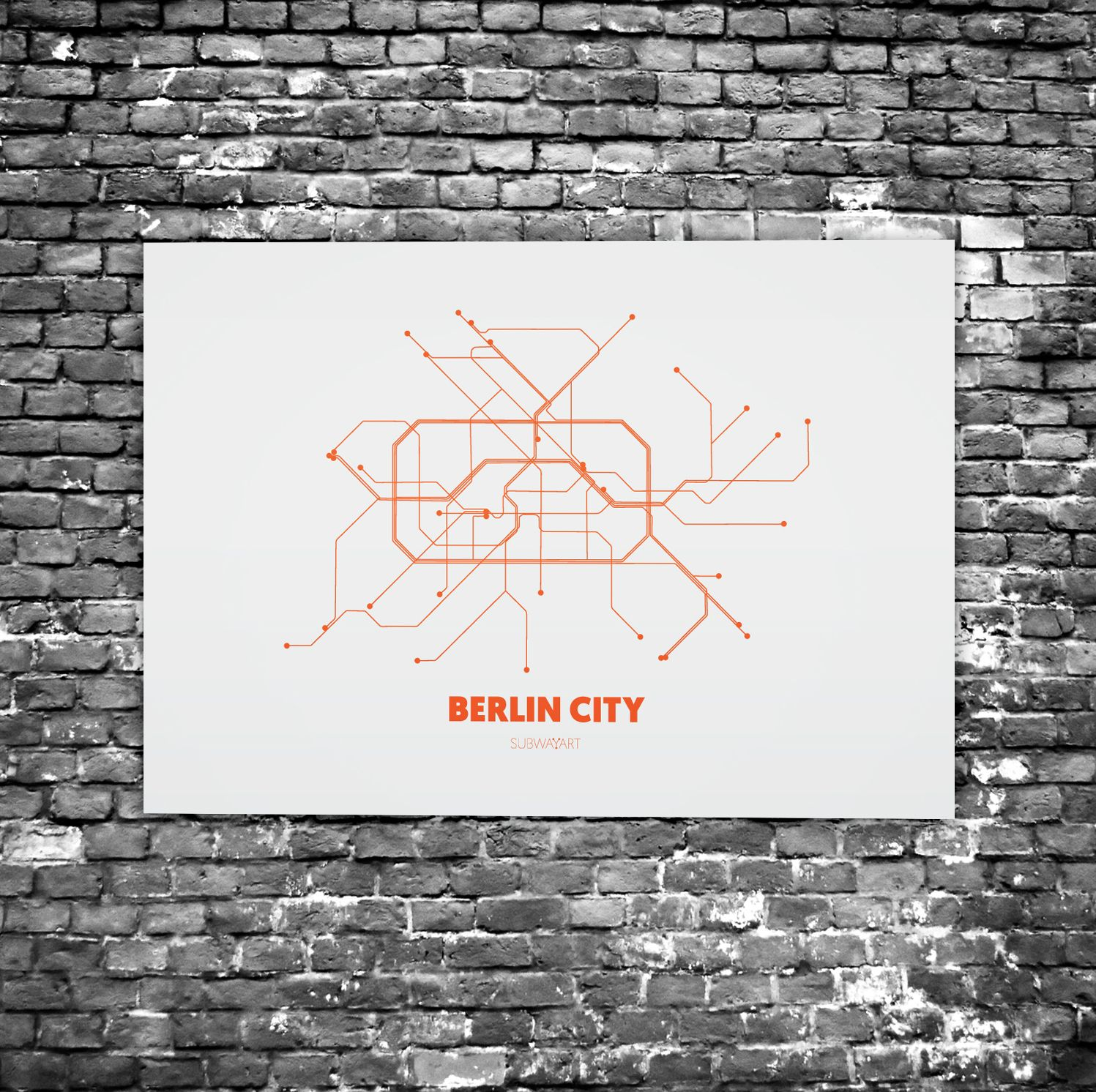 Plexiglas Berlin berlin city c3 acrylic glass subway maps u bahn karte