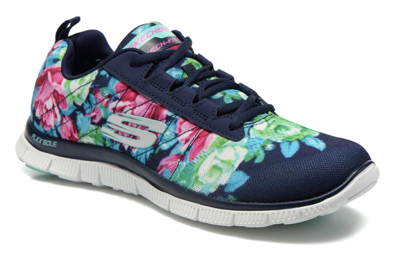 Skechers Flex Appeal- Wildflowers Zapatillas de Deporte, Mujer, Azul, 36