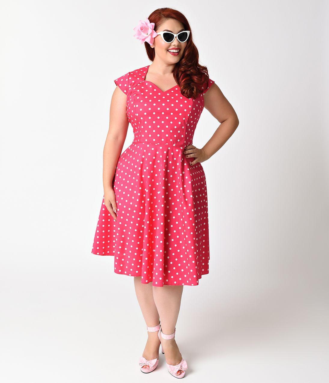 Plus Size 1950s Style Dresses