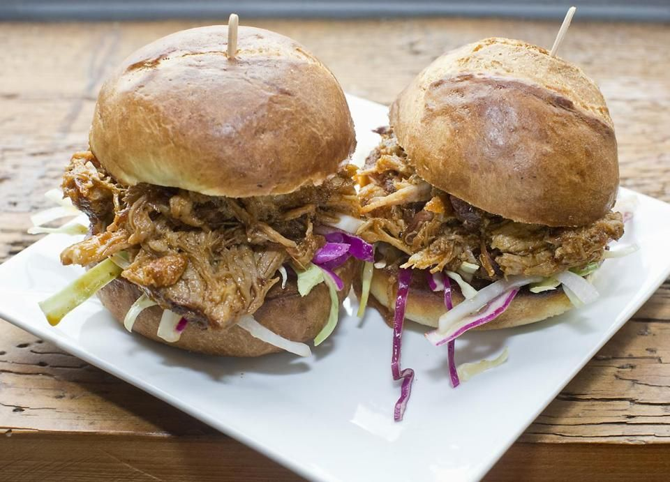 Pulled pork sliders at Winter Hill Brewing.