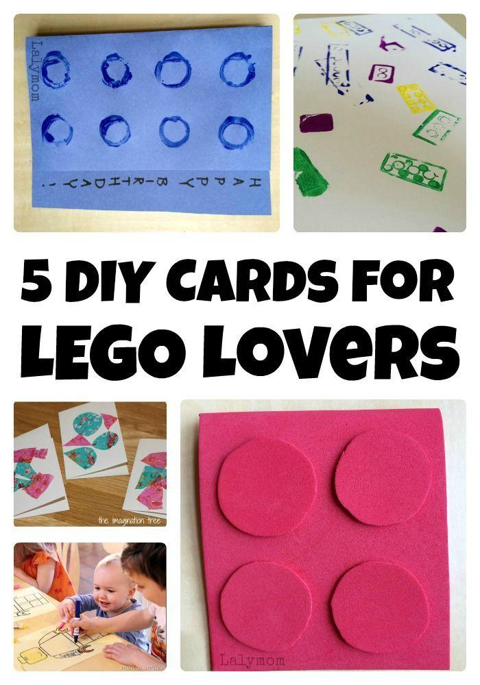 5 Diy Lego Birthday Card Tutorials Diy Birthday Cards Lego