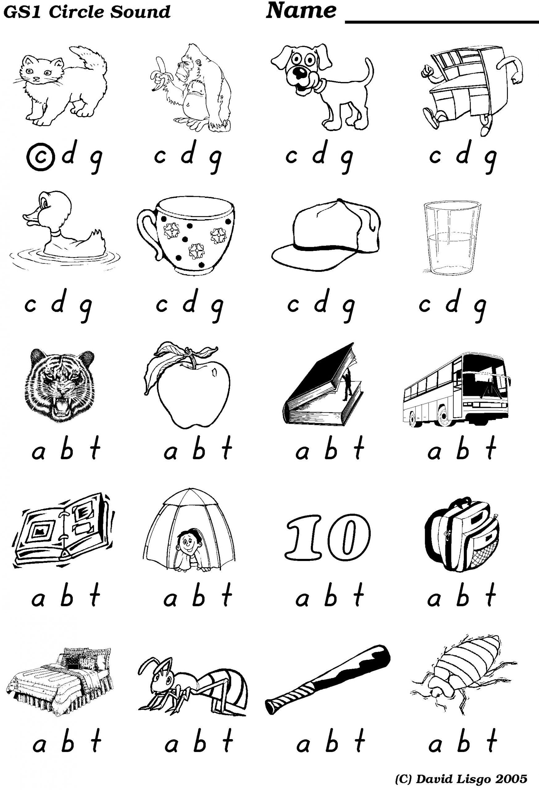 Ending Sounds Worksheets For Kindergarten Middle And