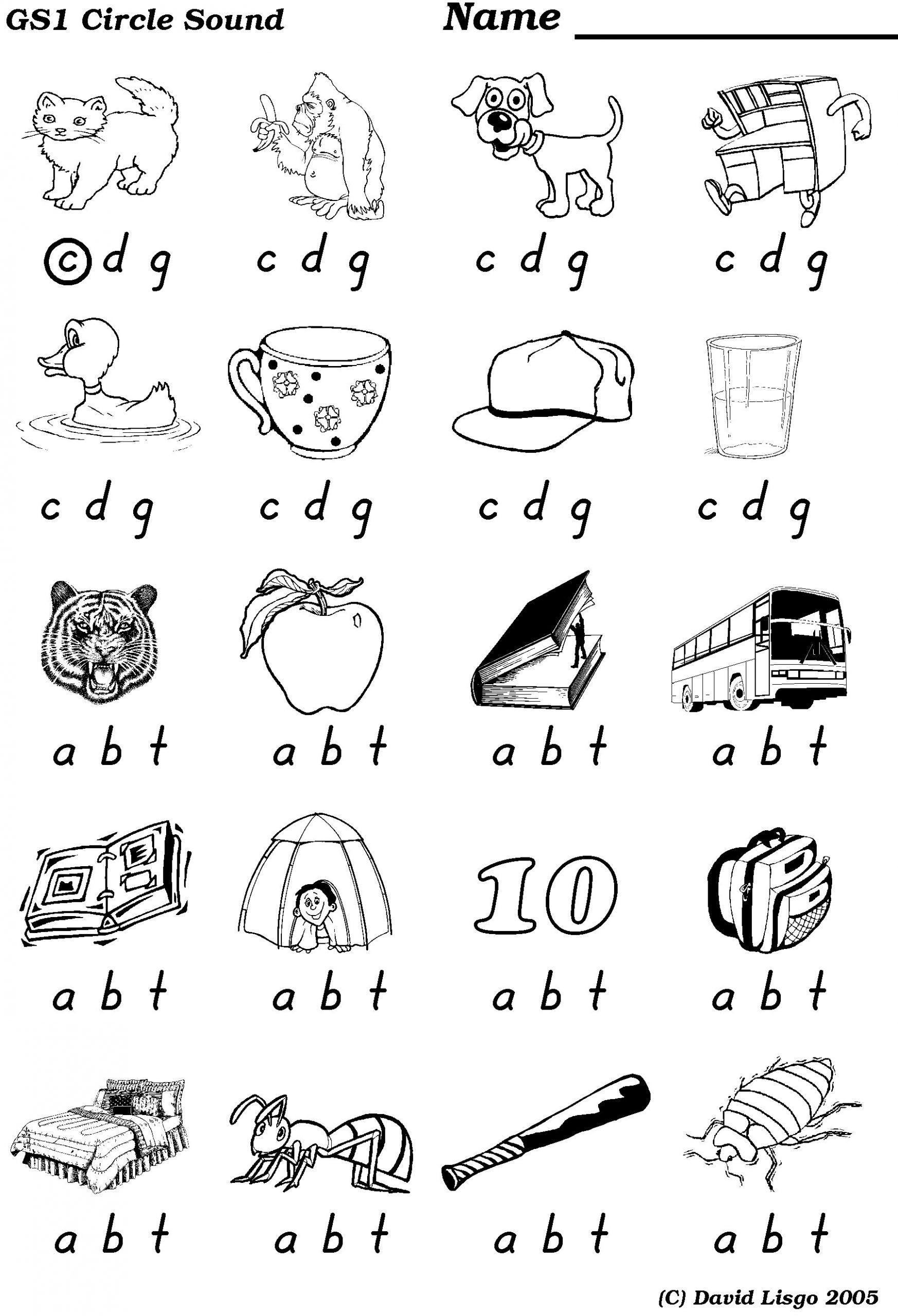 Ending Sounds Worksheets For Kindergarten Middle And