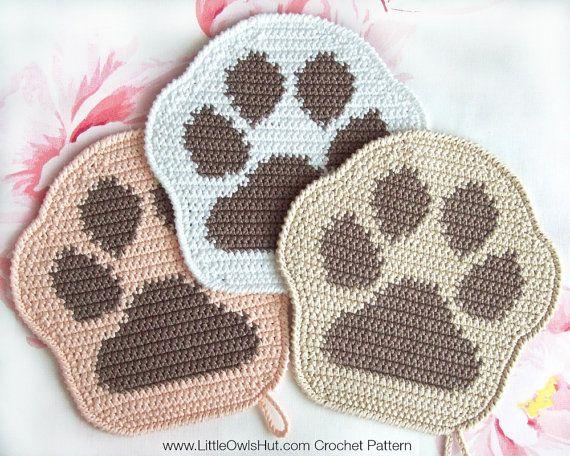 052 Paw decor, potholder or small pillow - Amigurumi Crochet Pattern ...