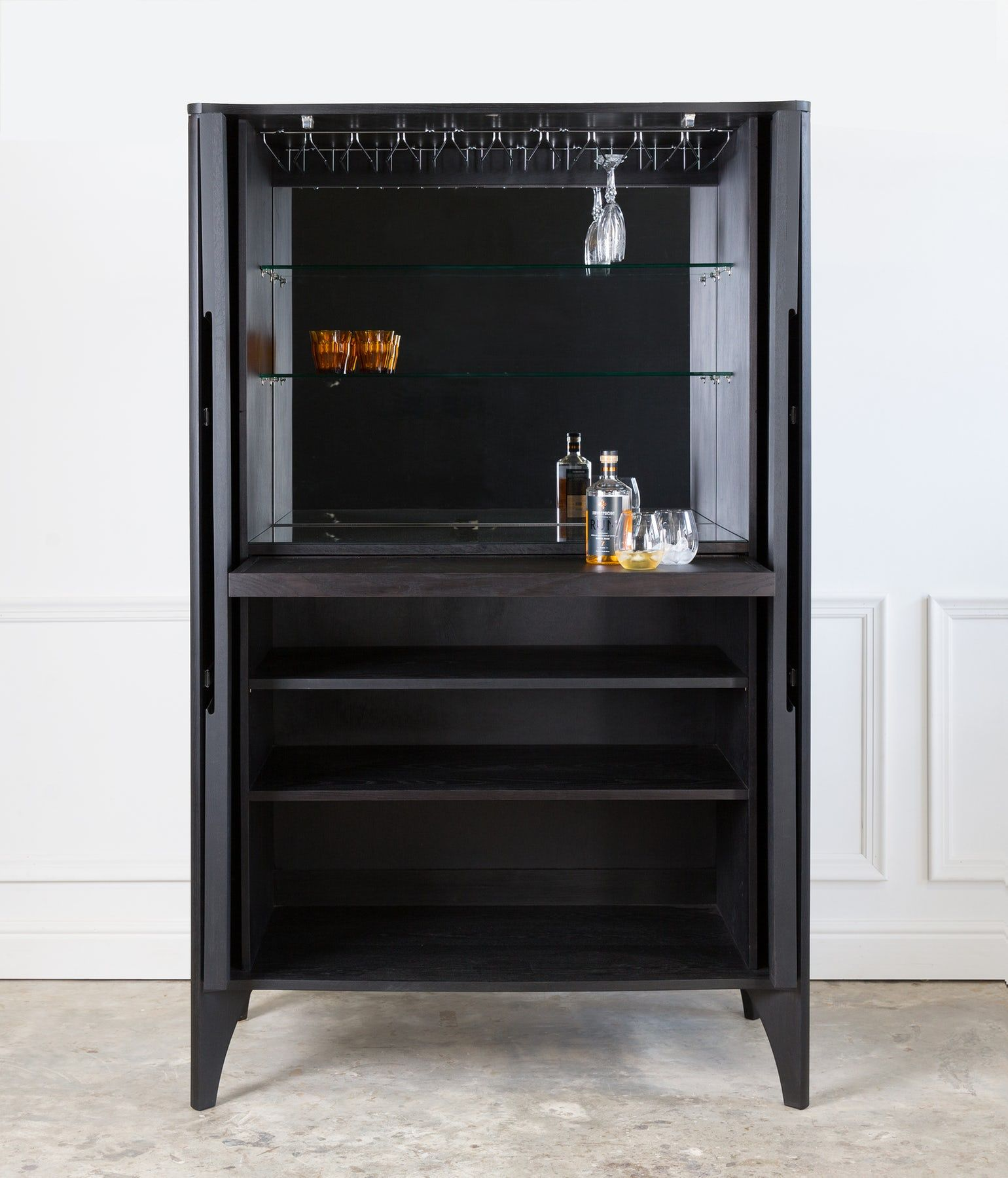 Noah Drinks Cabinet Contemporary Mid Century Modern Bar Cabinets Dering Hall