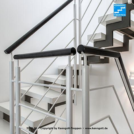Zweiholmtreppe stufenmaterial esche weiß longlife ...