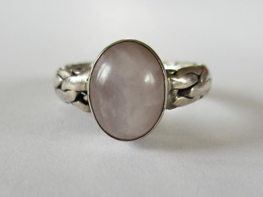 Vintage Chalcedony Agate Braided Design Band Sterling Silver Ring  #Unbranded #Band