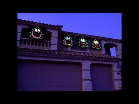 2012 Christmas Light Show - Singing Christmas Trees - Christmas Can Can -  YouTube - 2012 Christmas Light Show - Singing Christmas Trees - Christmas Can