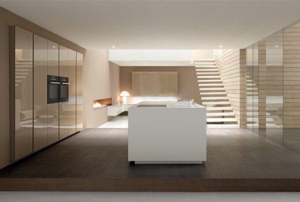 Witte Minimalistische Woonkeuken : Vogue linea de minimalistische keuken italian design