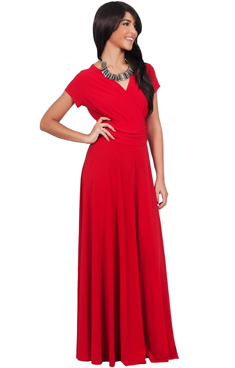 Modest long maxi bridesmaid dresses with short sleeves lds teen