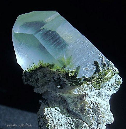 Quartz included with Epidote | Flickr - Photo Sharing!