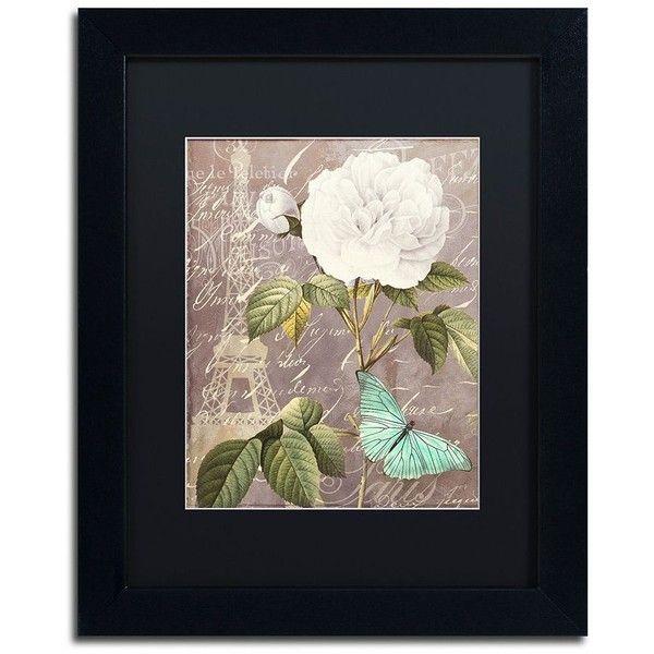Trademark Fine Art White Rose Paris Black Framed Wall Art ($110