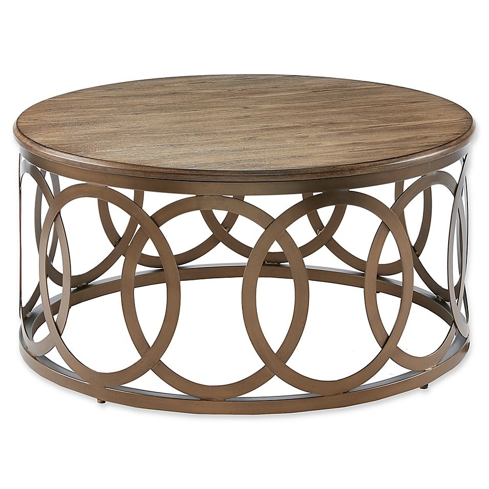 Madison Park Fraser Round Coffee Table In Bronze Brown Bronze Coffee Table Round Coffee Table Coffee Table [ 956 x 956 Pixel ]