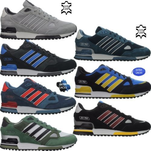 Medieval Archivo actividad  Adidas ZX 750 men's casual shoes athletic sneakers blue red black white NEW  | Casual shoes, Mens casual shoes, Sneakers blue