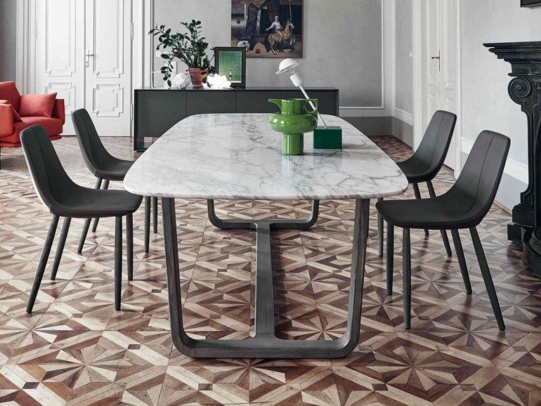 Oval marble living room table MEDLEY | Marble table by Bonaldo ...
