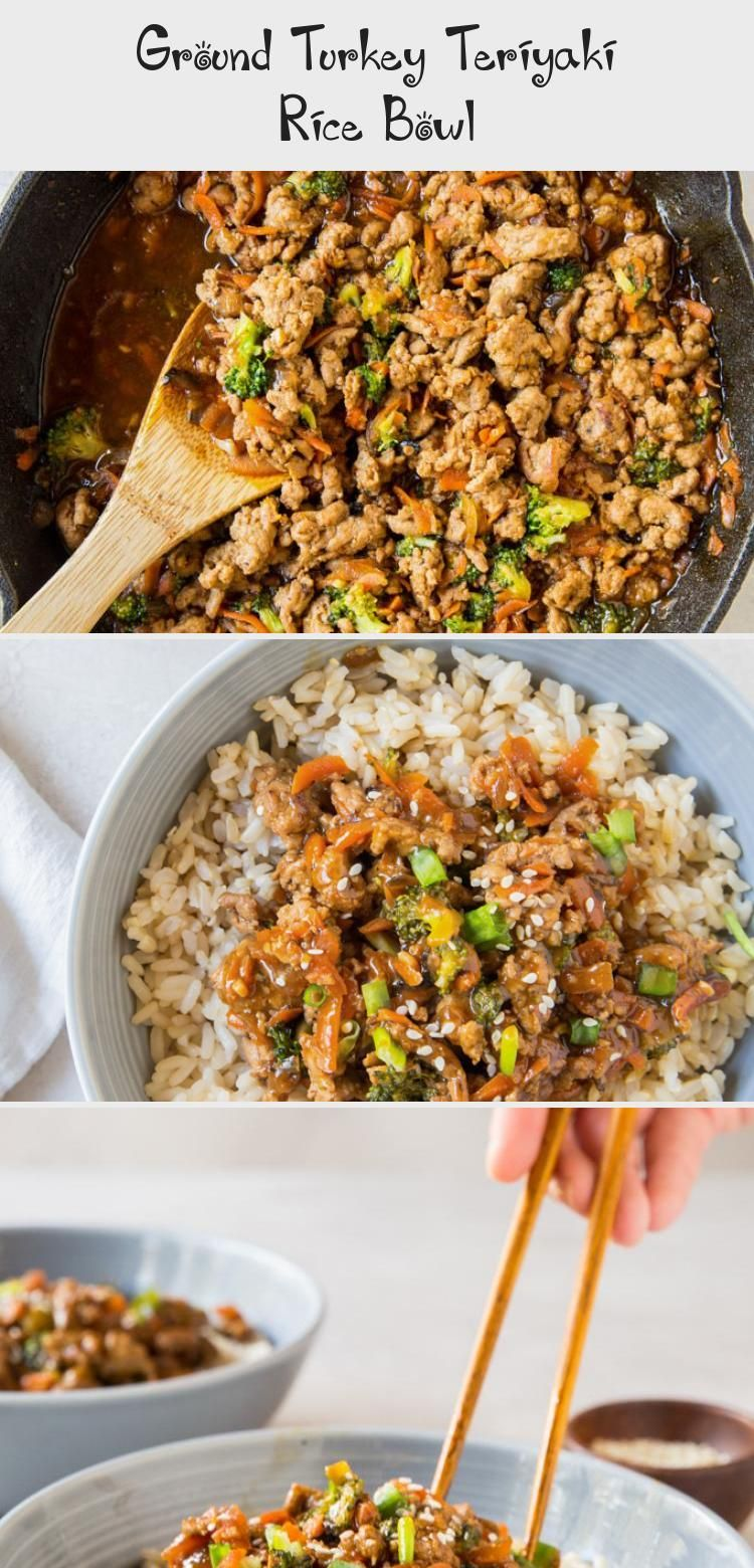 Ground Turkey Teriyaki Rice Bowl #groundturkeytacos