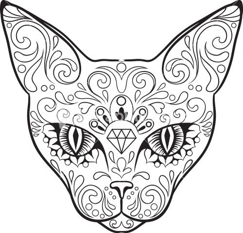 candy the cat coloring pages - photo#35