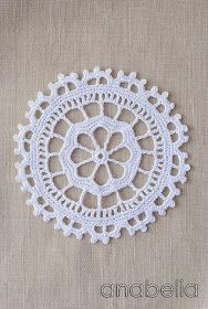 Crochet lace motif number 5 by Anabelia, chart