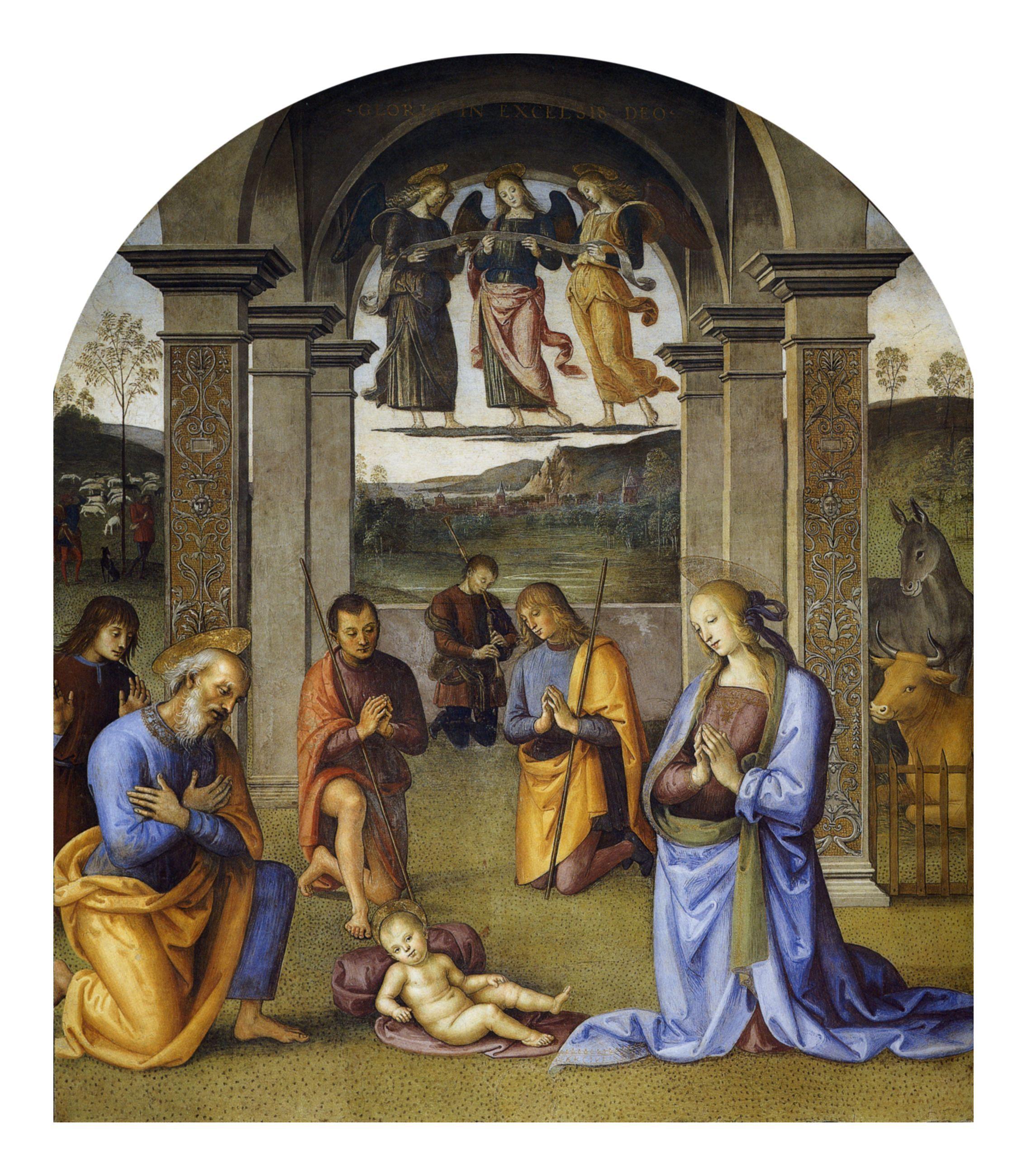 Religious Art: Pietro Perugino - Nativity 1496-1500