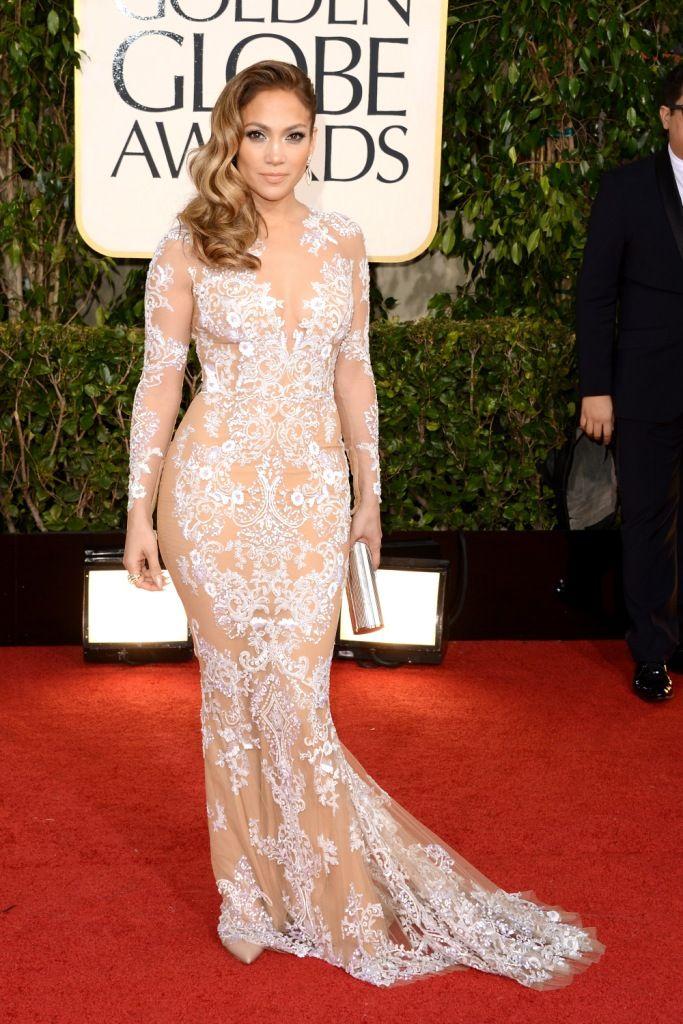 Jennifer Lopez at the 2013 Golden Globes in Zuhair Murad