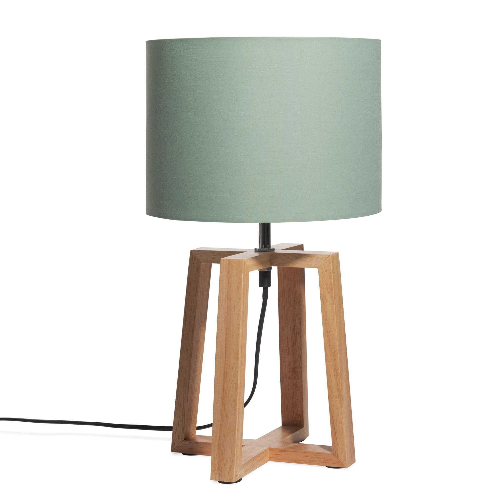 Lampes à poser | Lampe bois, Abat jour, Abat jour vert