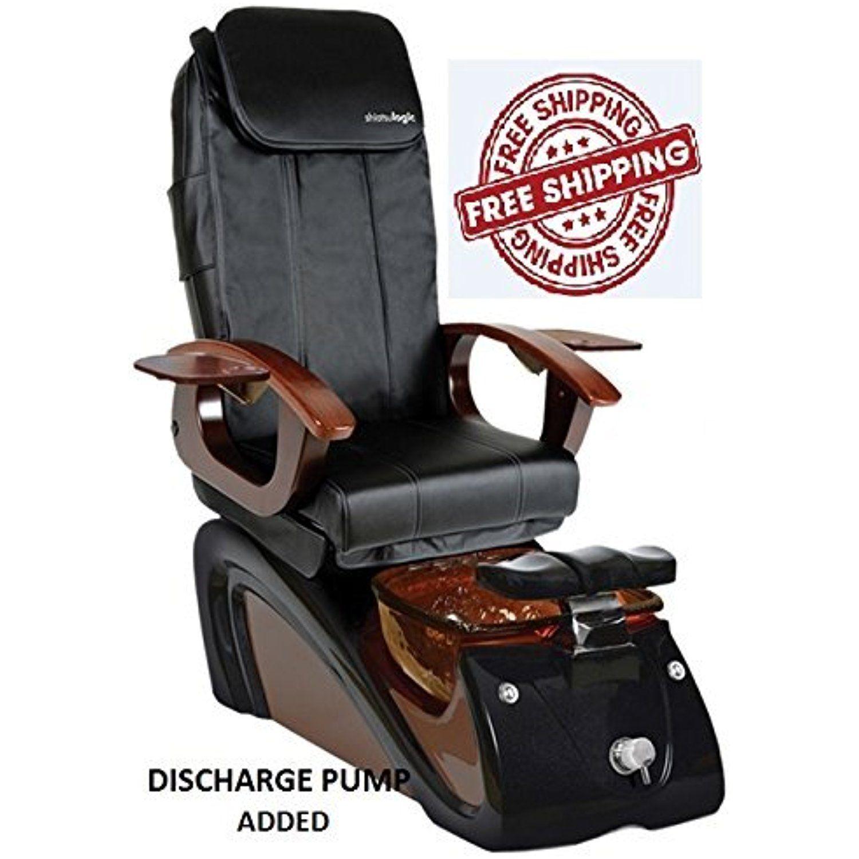 Shiatsulogic Pedicure Spa Alessi 5103 Black Mocha Chair W Discharge Pump More Info