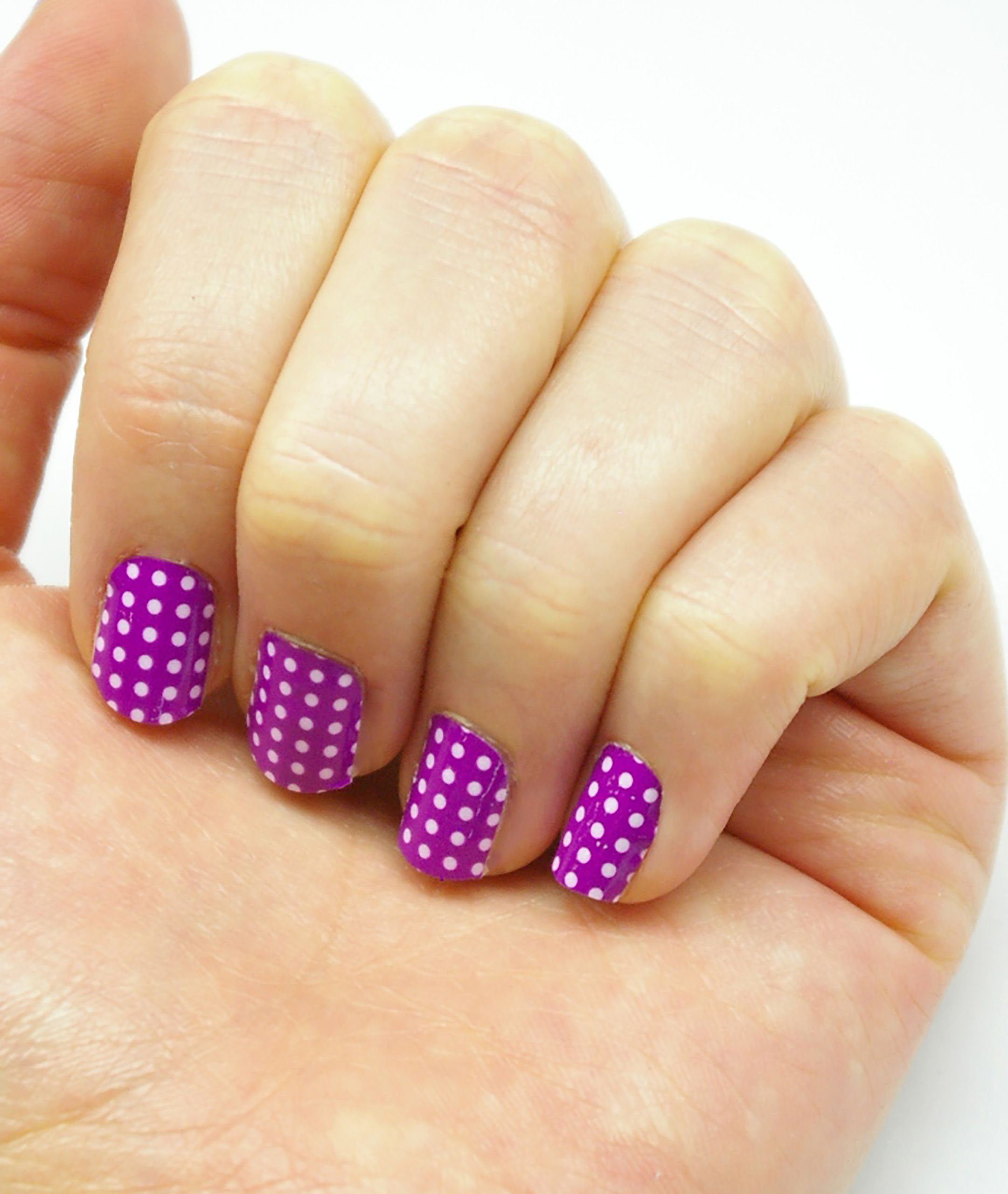 Polka Dots- Purple - Wrap-em Nail Wraps- Vinyl Nails | Nails ...