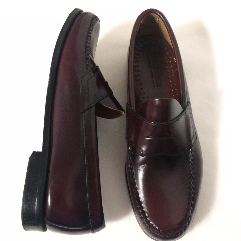 7b0e727cf6f G.H. Bass Weejuns Leather Loafers Men s Size 9.5 D Oxblood Slip-on Dress  Shoes  GHBassCo  LoafersSlipOns
