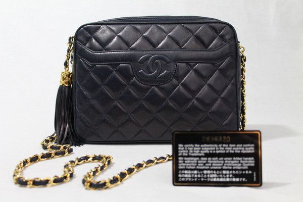 1f0376f67332 Chanel Quilted Handbag in Navy with Tassel | Cat Apolinar sold out but more  coming soon at CAT APOLINAR