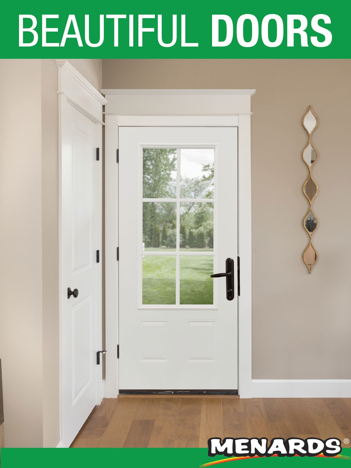 Add A Touch Of Country Charm To Your Entryway With This 3 4 Lite Farmhouse Steel Door With External Grilles From Mas Beautiful Doors Exterior Doors Steel Doors